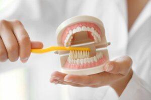 Особенности чистки съемного зубного протеза